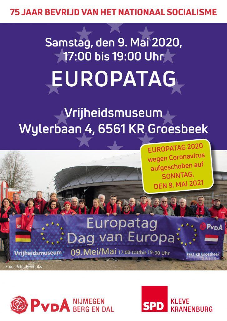 Europatag verschoben auf 09. Mai 2021