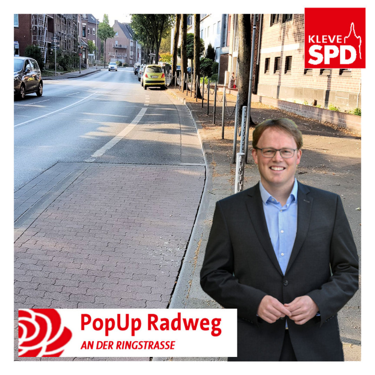PopUp-Radweg an der Ringstraße