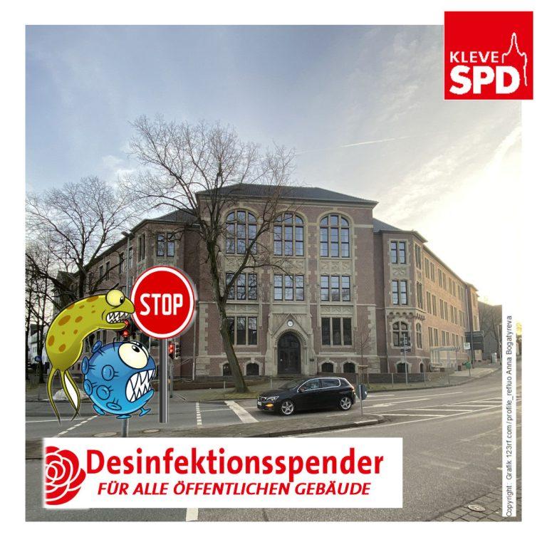 Antrag 029/XI: Berührungslose Desinfektionsspender in kommunalen Gebäuden und Einrichtungen
