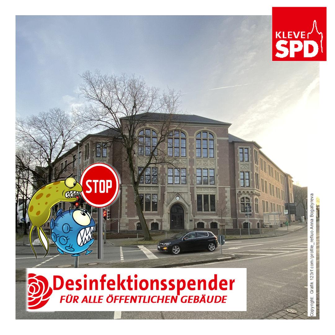 Antrag der SPD-Fraktion 029/XI Berührungslose Desinfektionsspender in kommunalen Gebäuden und Einrichtungen