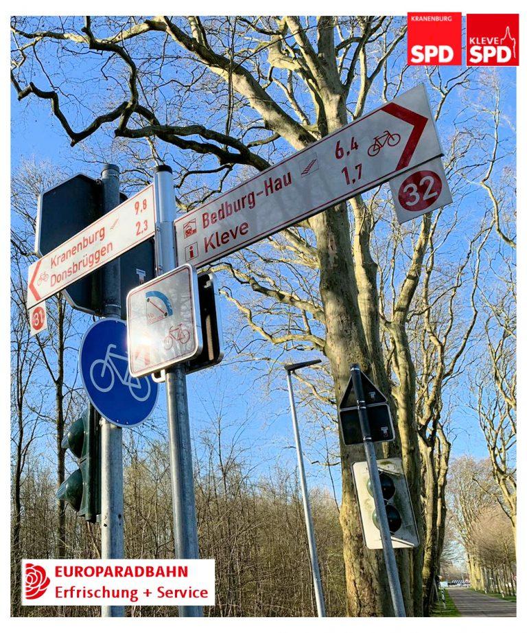 Euroradbahn: Trinkwasser- und Fahrradservicestationen