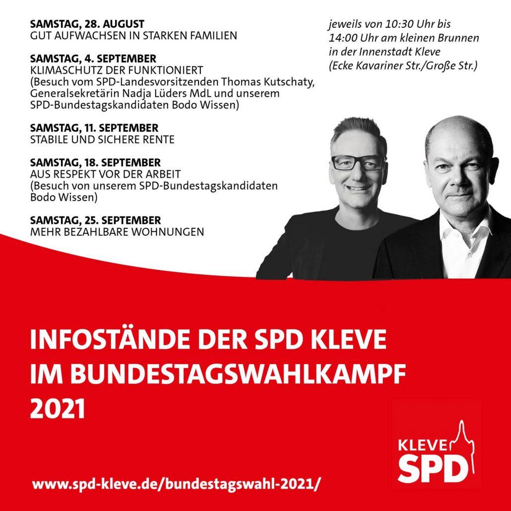 Infostände der SPD Kleve